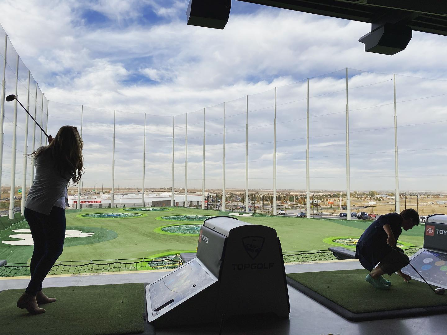 What a perfect evening to hit a few golf balls! A special thanks to @howellconstruction for taking us to Top Golf for a fun, relaxing evening!